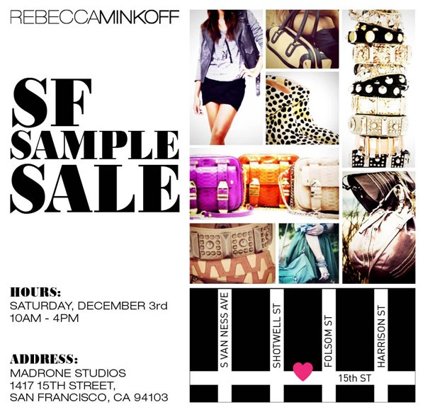 Rebecca Minkoff San Francisco Sample Sale!