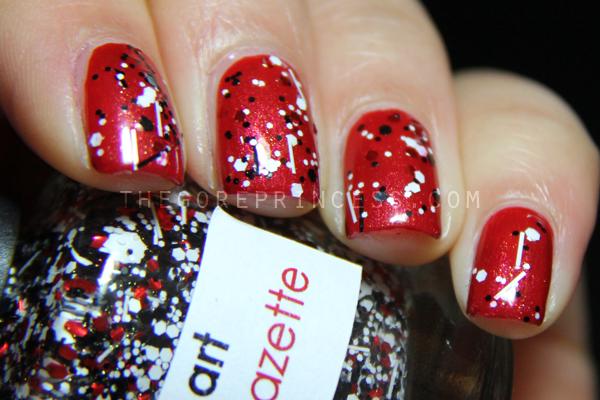 opi red river rhapsody  lilacquer tengu   u0026 sonoma nail art