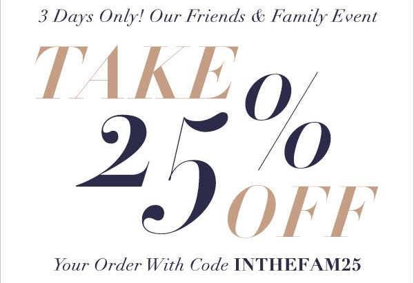 Shopbop Friends & Family sale