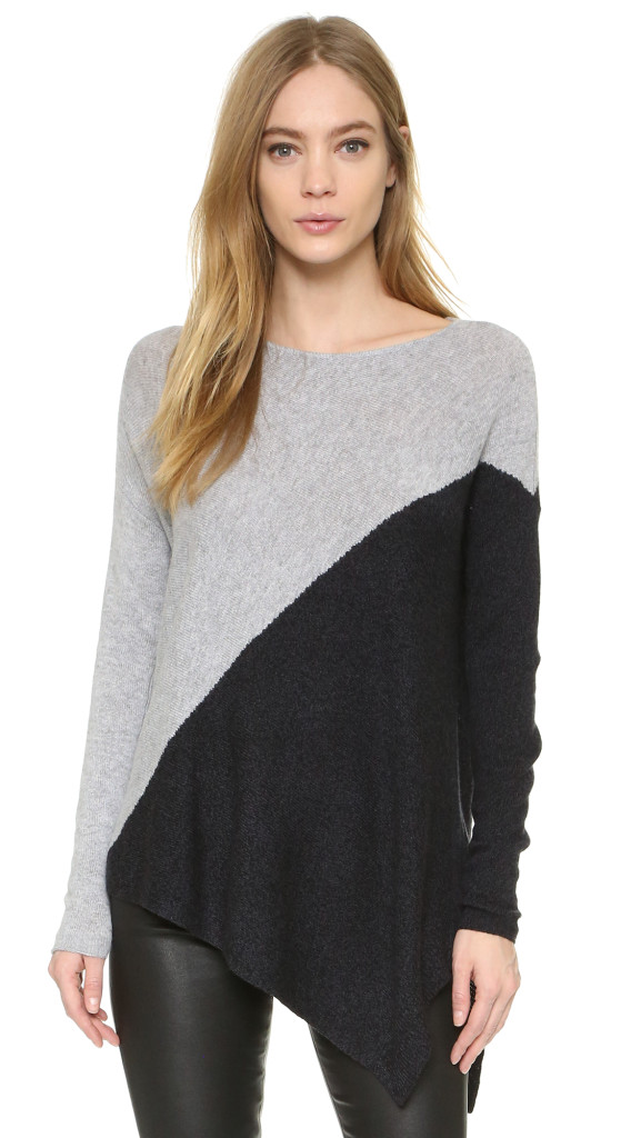 alice + olivia Colorblocked Bias Boxy Pullover